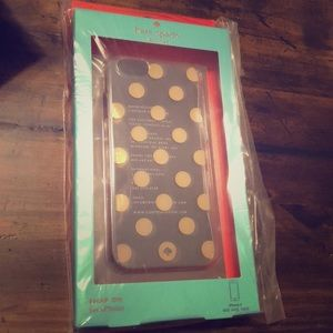 NWT Kate Spade gold polka dot iPhone 8 case